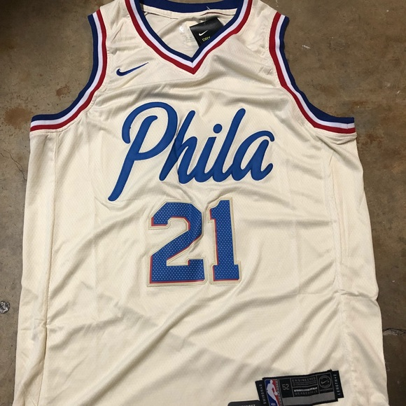Joel Embiid #21 Sixers city edition jersey